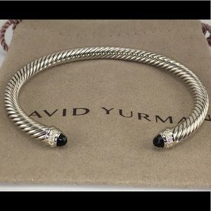 David Yurman Black Onyx and Diamonds 5mm Bracelet